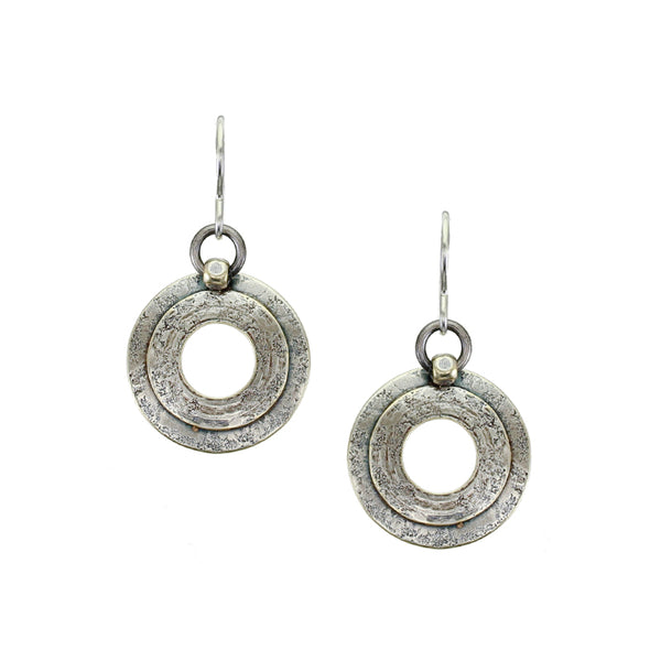 Layered Rings with Bead Wire Earring