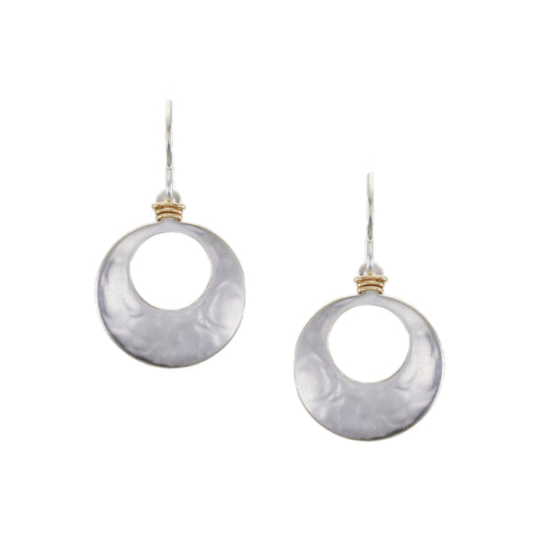 Small Wire Wrapped Cutout Disc Wire Earring