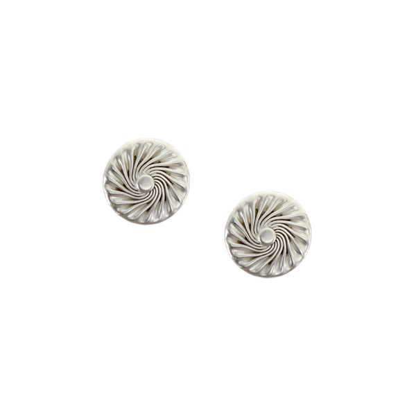 Small Flat Spiral with Dome Post Earring