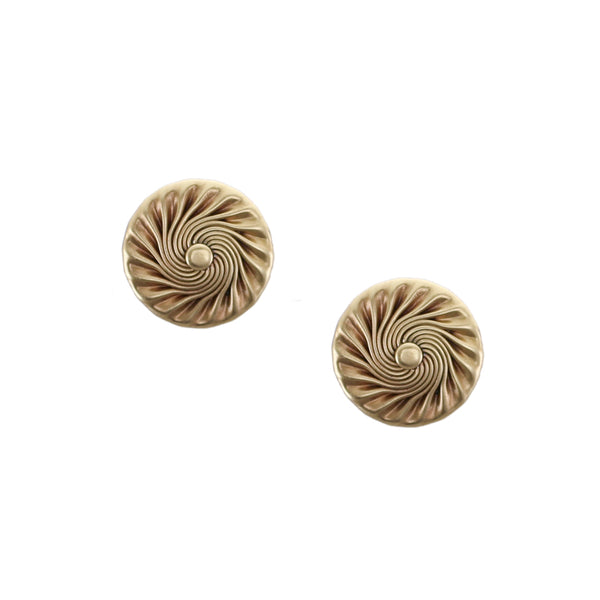 Flat Spiral with Dome Post Earring