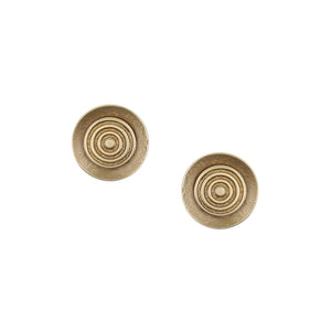 Dished Disc with Patterned Disc Post Earring