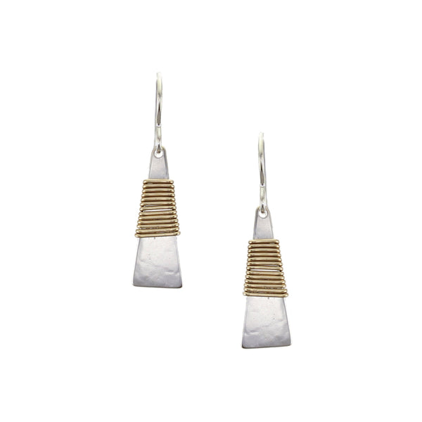 Wire Wrapped Narrow Triangle Wire Earring