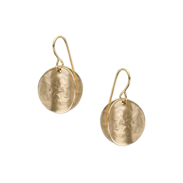 Small Back To Back Concave Discs Wire Earring