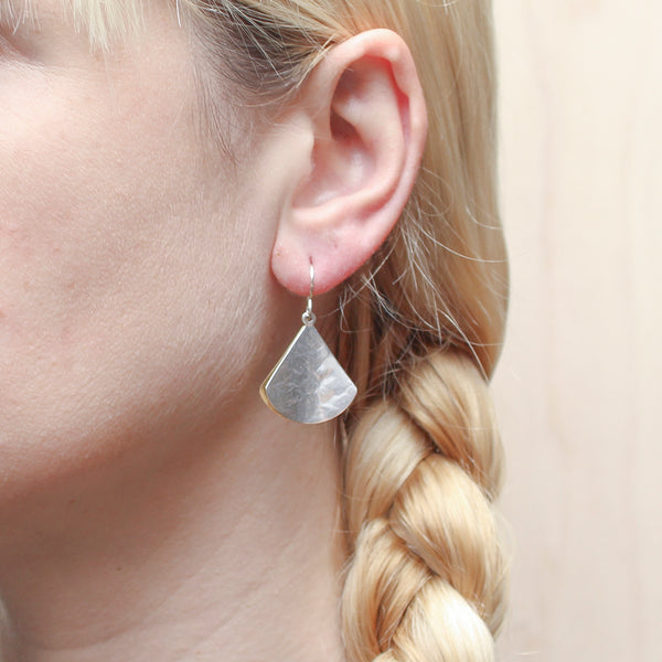 Back to Back Concave Triangles Wire Earring