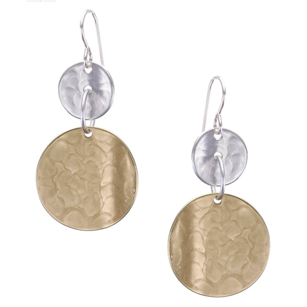 Linked Concave Discs Wire Earring