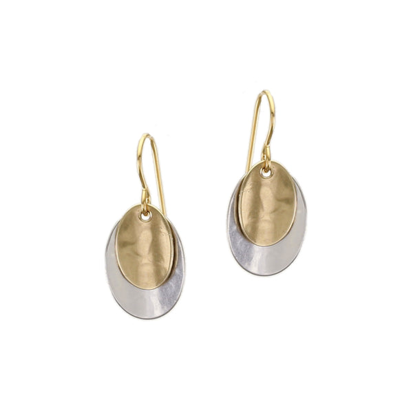 Layered Concave Ovals Wire Earring