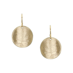 Curved Disc Wire Earring