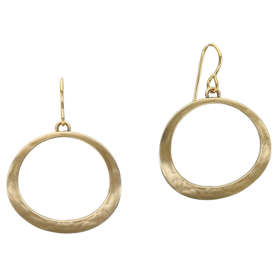 Curved Ring Wire Earring