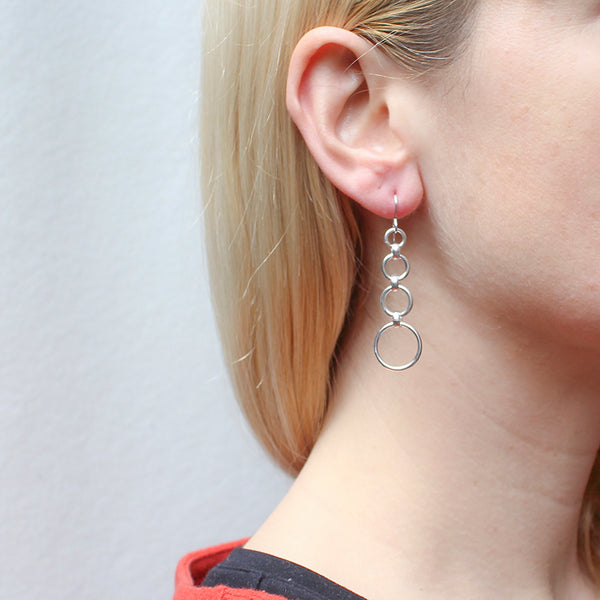 Tiered Rings Wire Earring