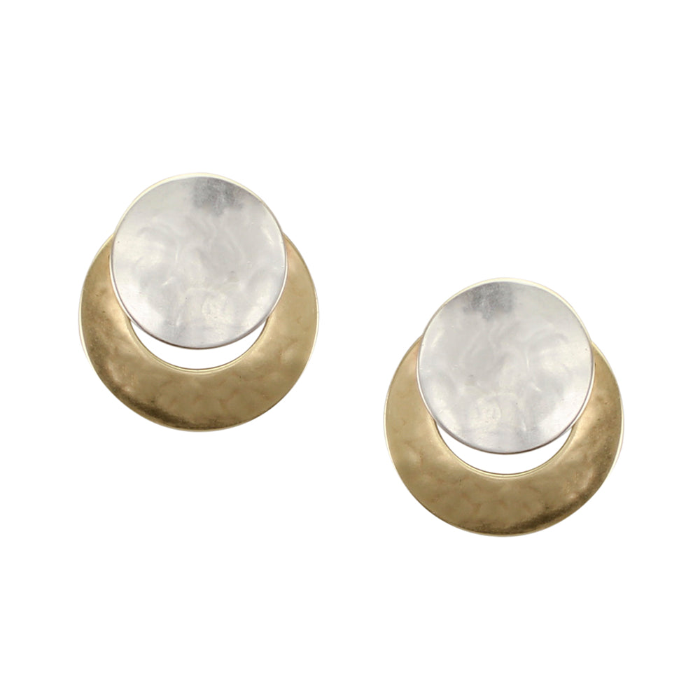 Disc Over Crescent Earring