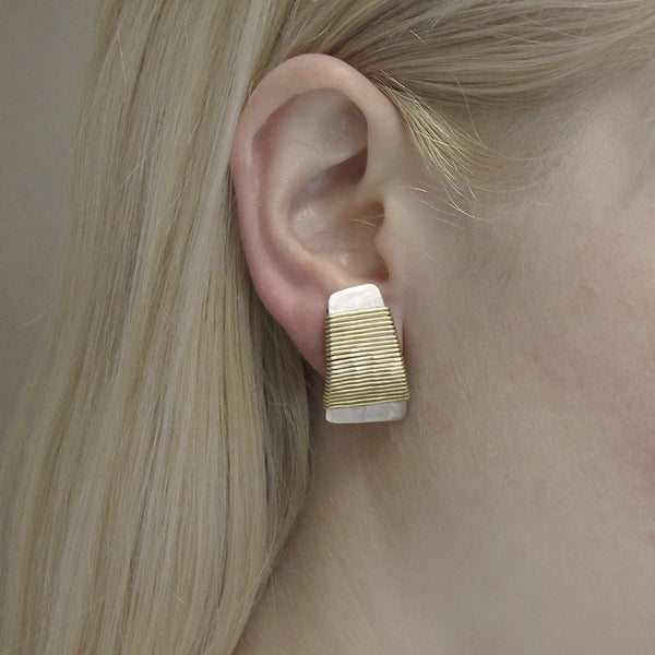 Wire-Wrapped Tapered Rectangle Earring