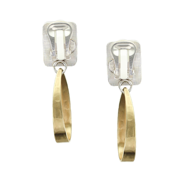 Rectangle with Long Loop Earring