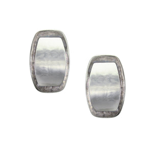 Silver and Antique Silver Post or Clip on Earrings