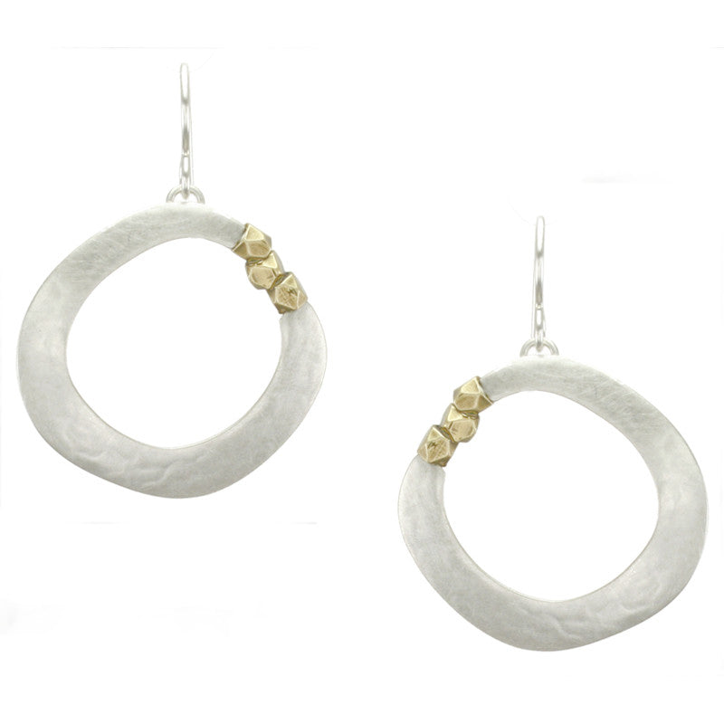 Organic Ring with Faceted Beads Earring