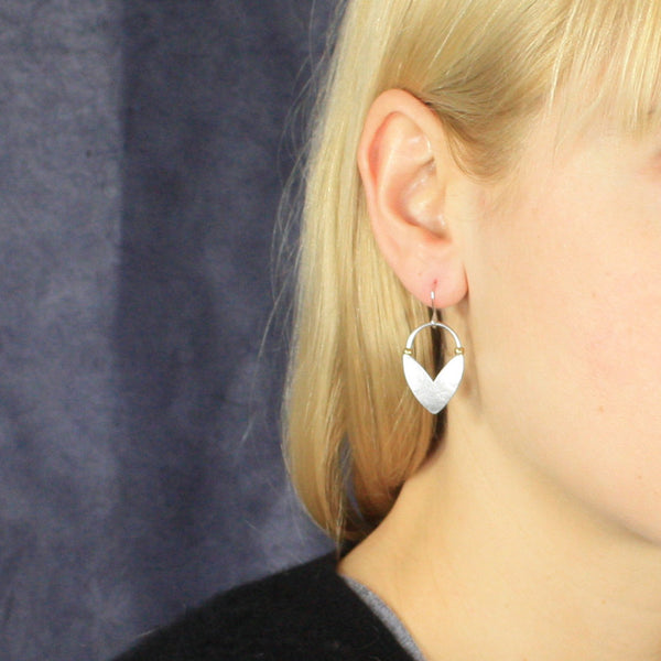 Small Chevron Leaf with Beads Earring