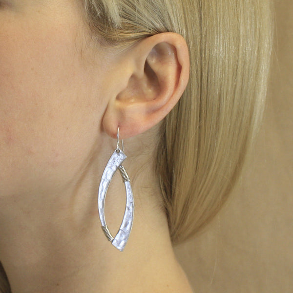 Wire-Wrapped Swoops Earring