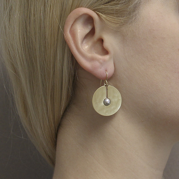 Cutout Disc with Spherical Bead Earring