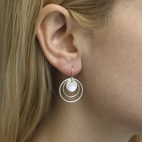 Disc and Layered Rings Earring