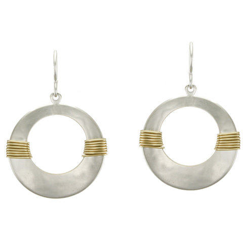 Wire Wrapped Cutout Disc Earring