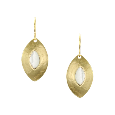 Pointed Oval Wire Earring