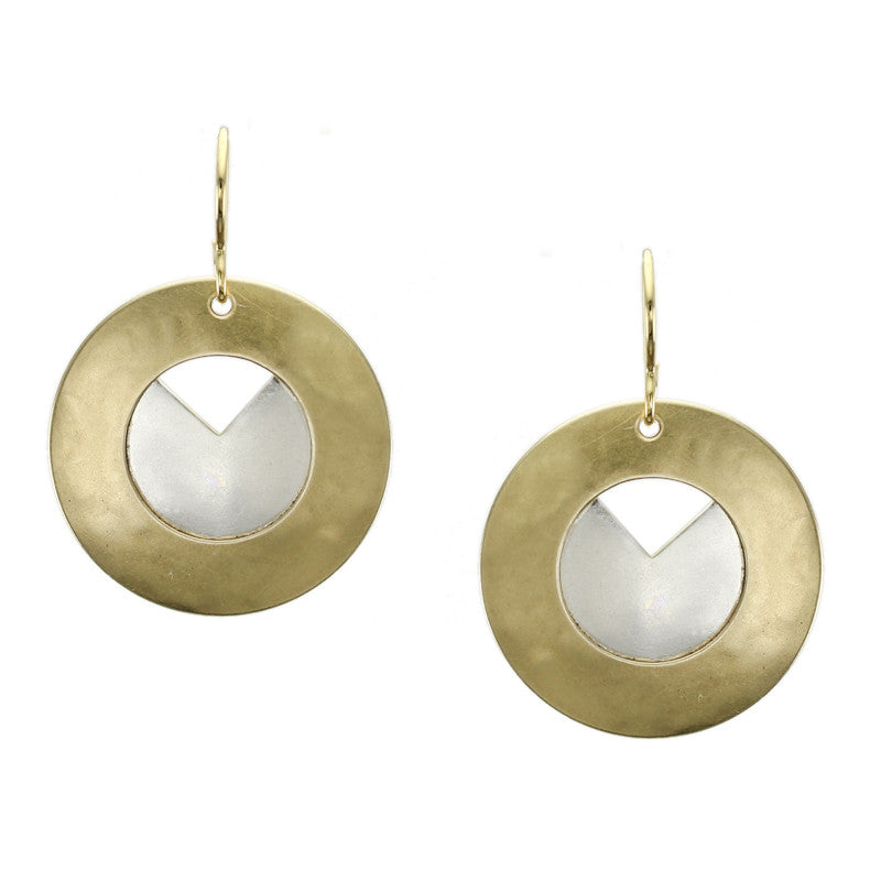 Wide Ring and Sliced Disc Earring