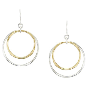 Tiered Hammered Rings Earring