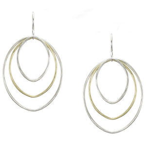 Large Tiered Oval Ring Earring