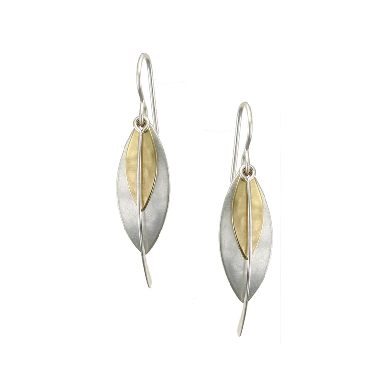 Layered Leaves and Swoop Earring