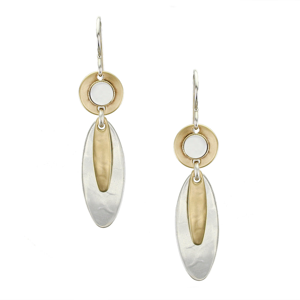 Long Layered Ovals with Mother of Pearl Earring