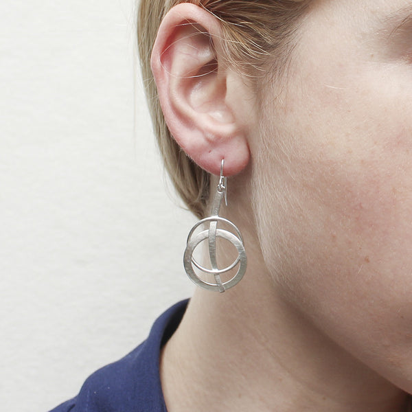 Rod with Layered Rings Earring
