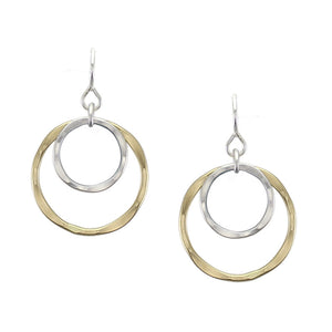 Medium Layered Rings Earring
