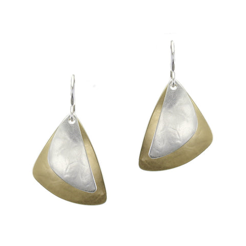 Rounded Triangle with Crescent Earring