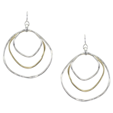 Large Layered Organic Rings Earring