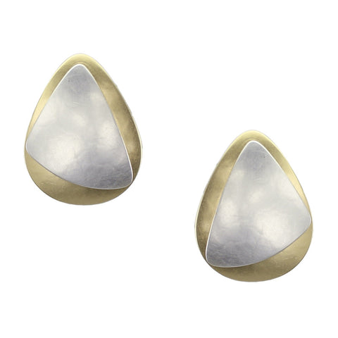 Rounded Triangle with Teardrop Earring