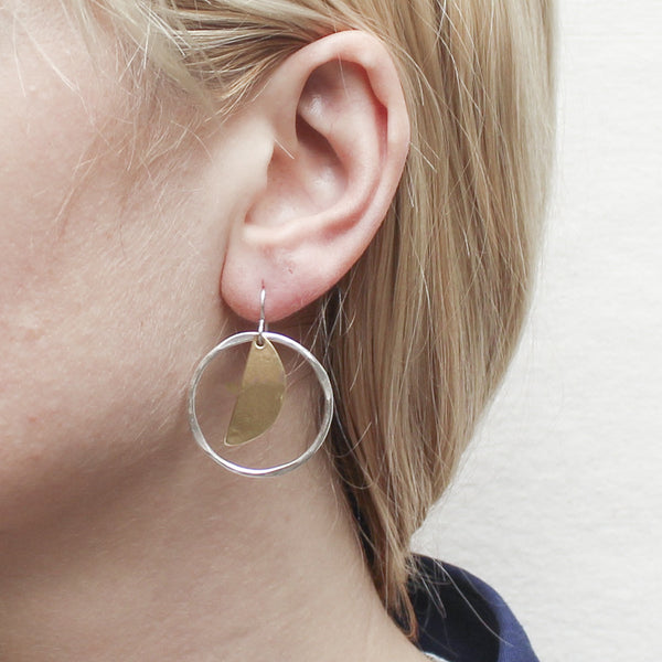 Crescent and Ring Earring