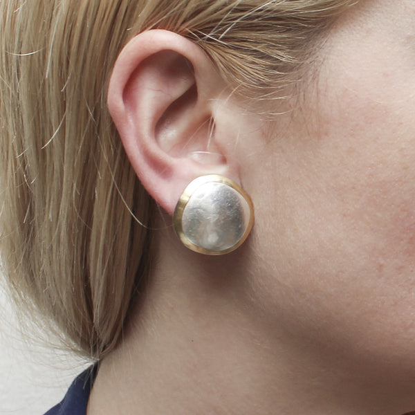 Organic Discs Post or Clip Earring