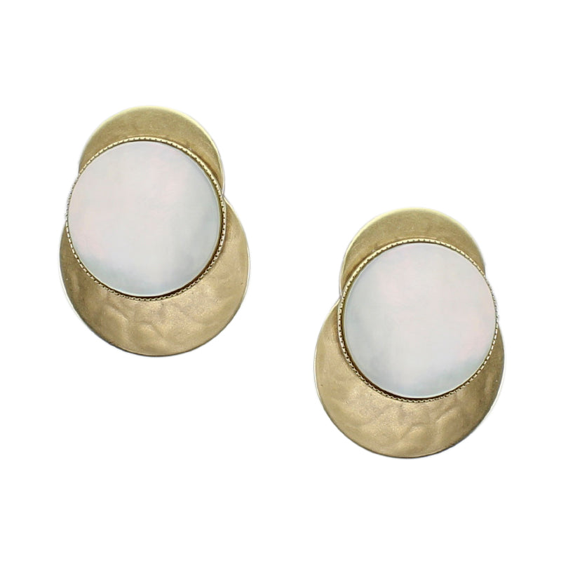 Layered Disc with Mother of Pearl Disc Earring