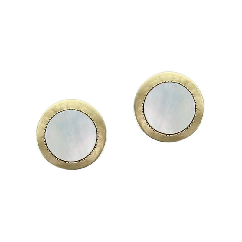 Disc with Mother of Pearl Disc Earring