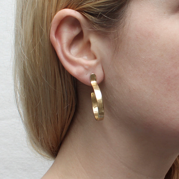 Medium Post Hoop Earring