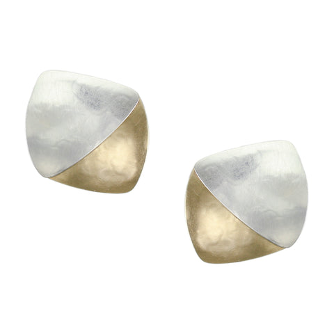 Layered Rounded Triangles Earring
