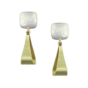 Small Rounded Square with Tapered Loop Earring