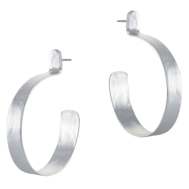 Large Post Hoop Earring