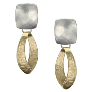 Rounded Rectangle with Wide Loop Earring