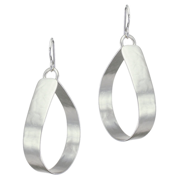 Wide Teardrop Hoop Earring