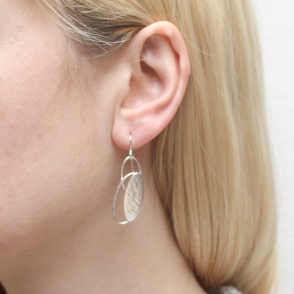 Oval with Oval Rings Earring