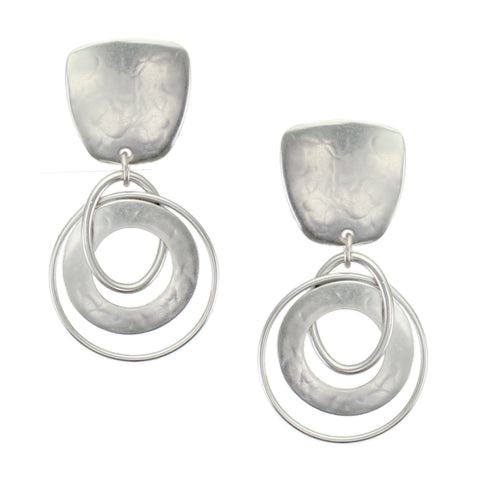 Silver Post or Clip on Earrings