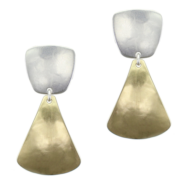 Tapered Square with Rounded Triangle Earring