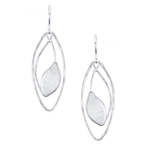 Leaf with Oval Rings Earring