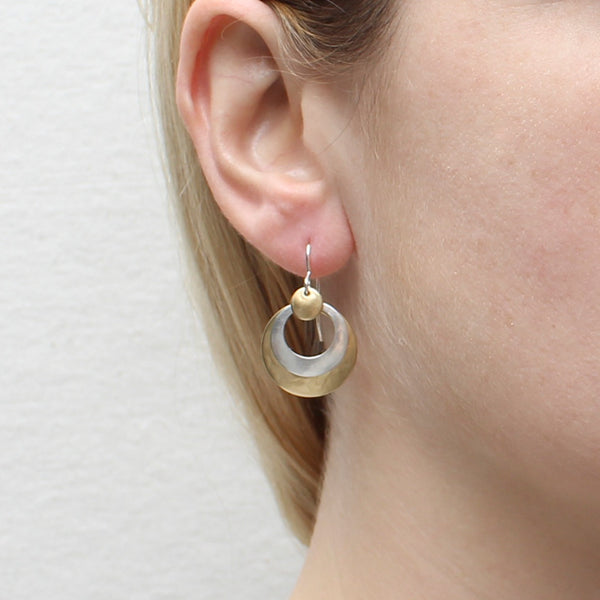 Layered Cutout Discs Earring