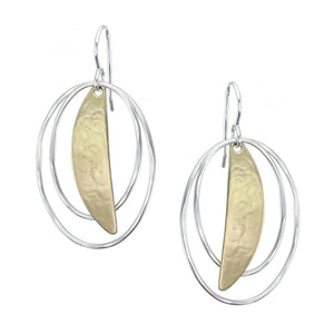 Slice with Oval Rings Earring